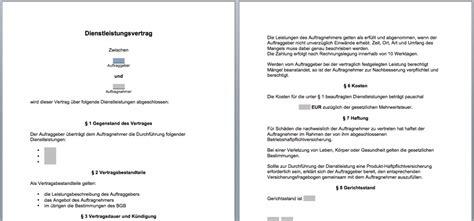 Angebot Muster Unterhaltsreinigung vorlage dienstleistungsvertrag muster word convictorius