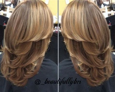 long layered haircut blow dry with lots of volume 80 cute layered hairstyles and cuts for long hair in 2016