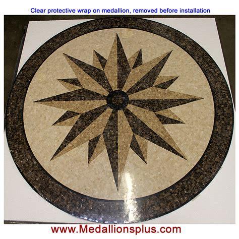 "Star Light, 36"" Polished Mosaic Floor Medallion"