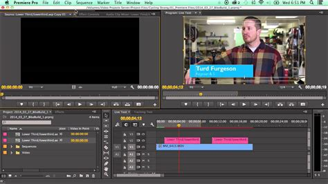 How To Use The New Live Text Templates In Adobe Premiere Cc 2014 Youtube Text Template Premiere Pro