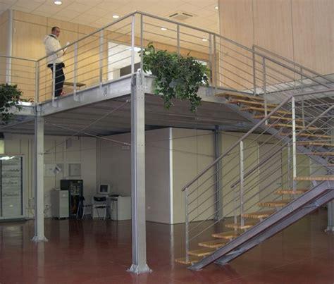 soppalco ufficio soppalco ufficio separazione spazi ottimizzazione balaustra