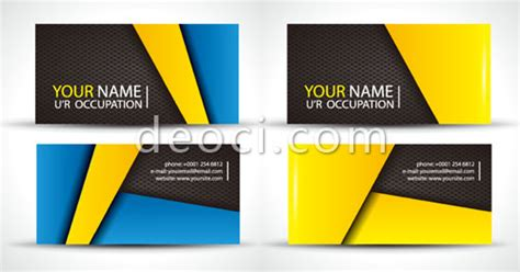 Name Card Template Ai Free by 2 Creative Graphics Business Card Design Template