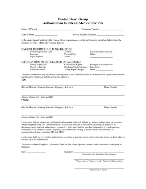Medical Records Release Form Template Business Records Consent Form Template