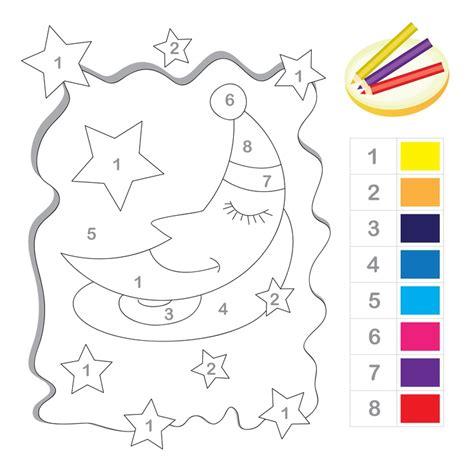 printable number line twinkle color by number worksheets for preschoolers preschool