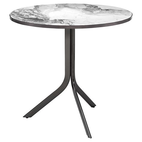 Grey Bistro Table Caprina Modern Gunmetal Grey Marble Folding Bistro Table Kathy Kuo Home