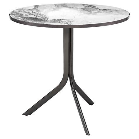 Modern Bistro Table Caprina Modern Gunmetal Grey Marble Folding Bistro Table Kathy Kuo Home