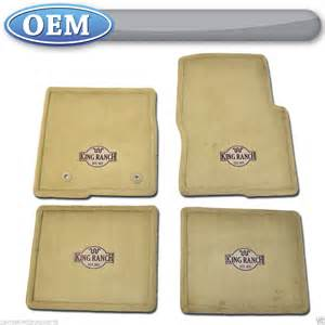 King Ranch Floor Mats For Sale New 2011 2013 Ford F 150 King Ranch Logo Adobe Carpet