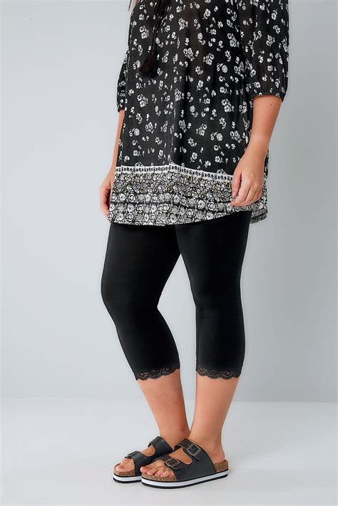 Can You Purchase Items Online With A Visa Gift Card - black cotton elastane crop legging with lace trim plus size 16 to 32