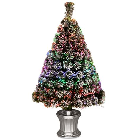 reviews of 3 foot fiber optic christmas tress national tree co fiber optics 3 artificial tree led with base reviews wayfair