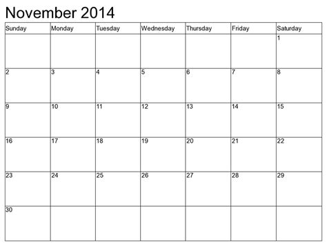 Calendar For November 2014 November Calendar Editable Calendar Template 2016