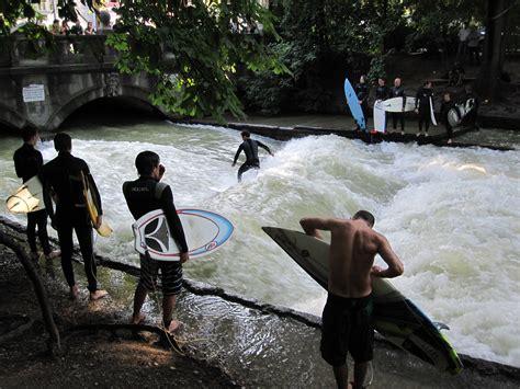 Englischer Garten Surfen by File Eisbach Surfen 1 Jpg
