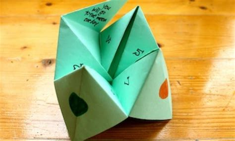How To Make An Origami Chatterbox - make a paper fortune teller kidspot