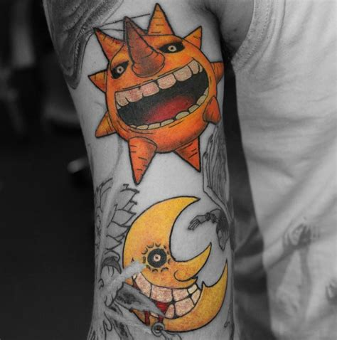 anime tattoo sleeve soul eater tattootom bournemouth anime