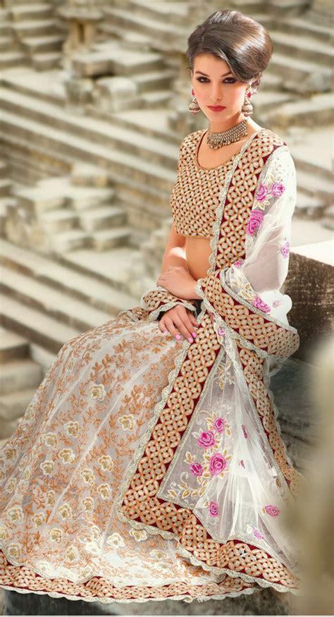 billywood hair dressing beautiful light lehenga with floral patterns lehenga