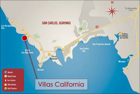 map travel info san carlos mexico