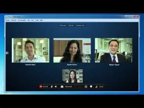 tutorial video call skype skype conference call tutorial doovi