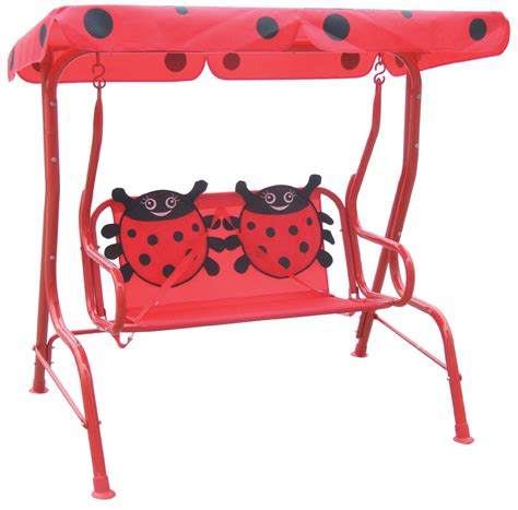 childrens outdoor swing far east brokers recalls ladybug themed kids outdoor