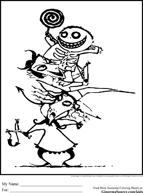 Free Nightmare Before Christmas Coloring Pages Printable Nightmare Before Coloring Pages Oogie Boogie