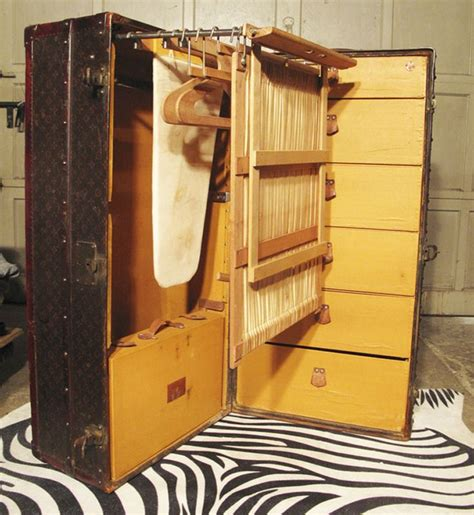 louis vuitton wardrobe steamer trunk with ironing board
