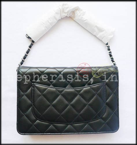 Best Seller In Store Chanel Woc Lambskin bnib chanel classic quilted wallet on chain or woc black
