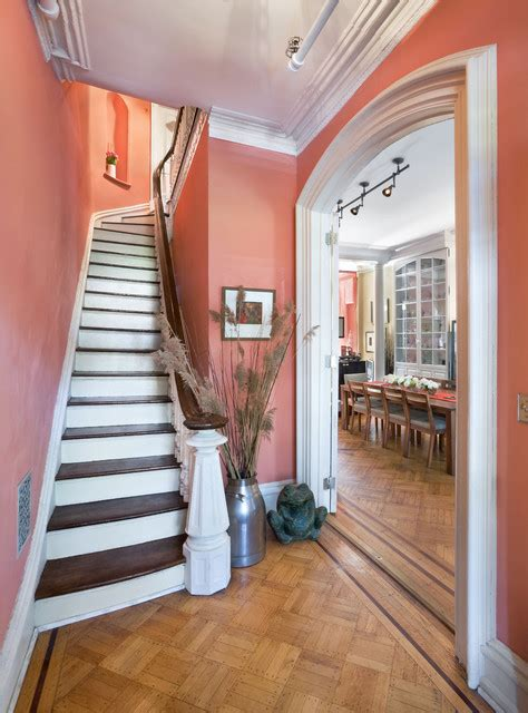 townhouse entryway ideas foyer historic townhouse brooklyn new york