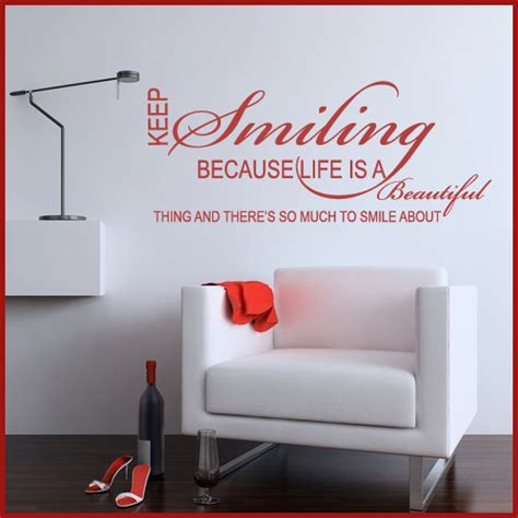 wall word stickers keep smiling word wall sticker decals