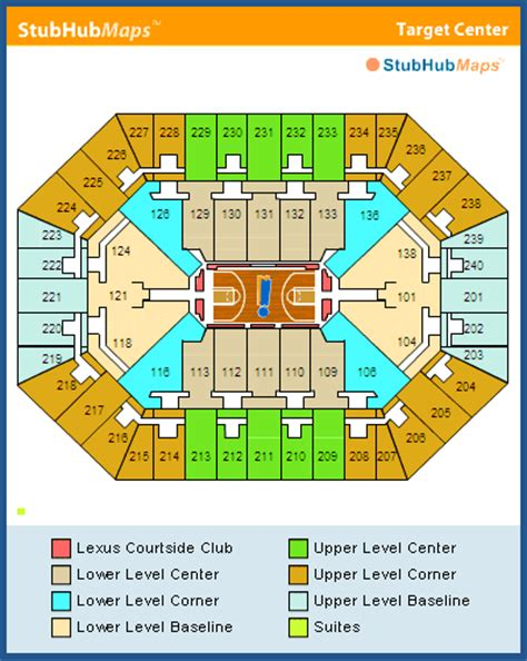 target center floor plan target center seating chart pictures directions and