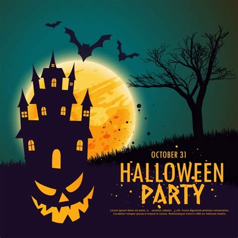 editar imagenes halloween online background with a pumpkin on a haunted house for halloween