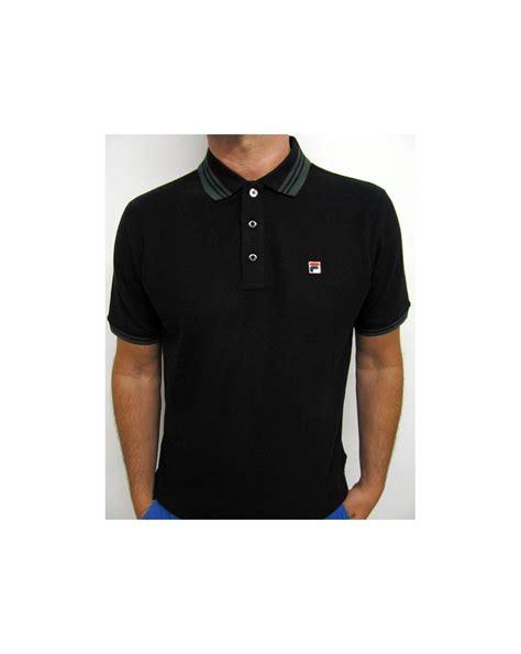 Black Fila Shirt Limited fila vintage match polo shirt black settanta matchday polo matcho