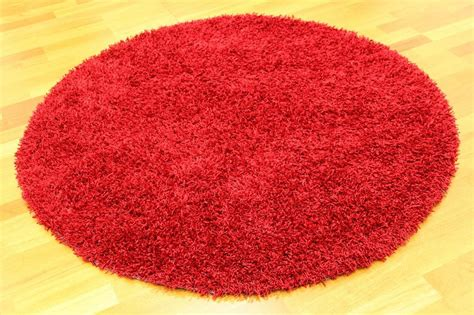roter runder teppich runde teppiche fancy rot trendcarpet de