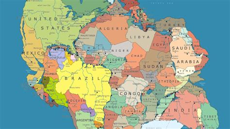 map world before apart here s what pangea looks like mapped with modern political