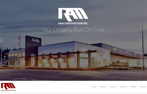 ram construction web design project for ram construction