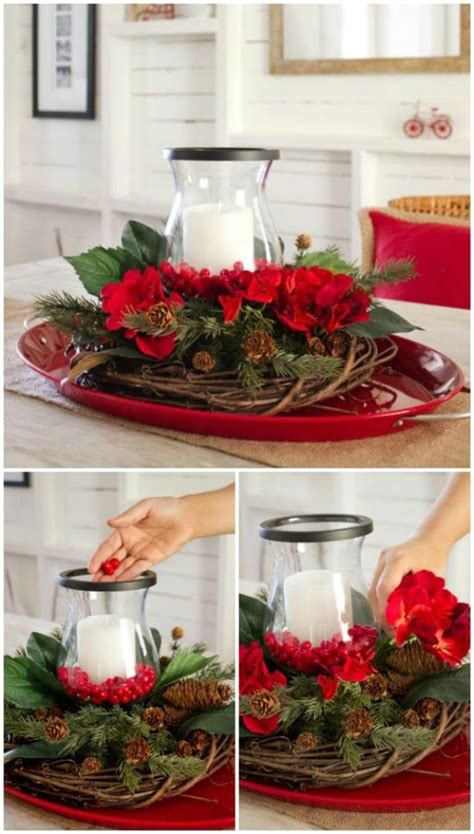 christmas table centerpieces inexpensive 21 beautifully festive centerpieces you can easily diy diy crafts