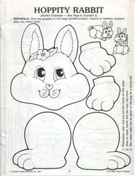 easter bunny paper bag puppet template paper bag bunny pat catan s crafts for