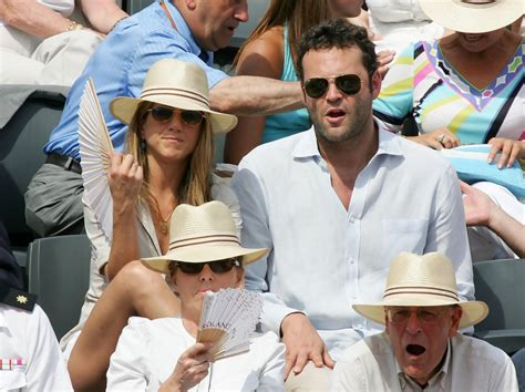 Vince Vaughn At Anistons Birthday by Aniston And Vince Vaughn At The Open