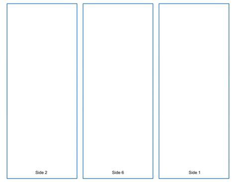 Blank Tri Fold Brochure Template Google Slides Free Download Blank Tri Fold Brochure Template Free