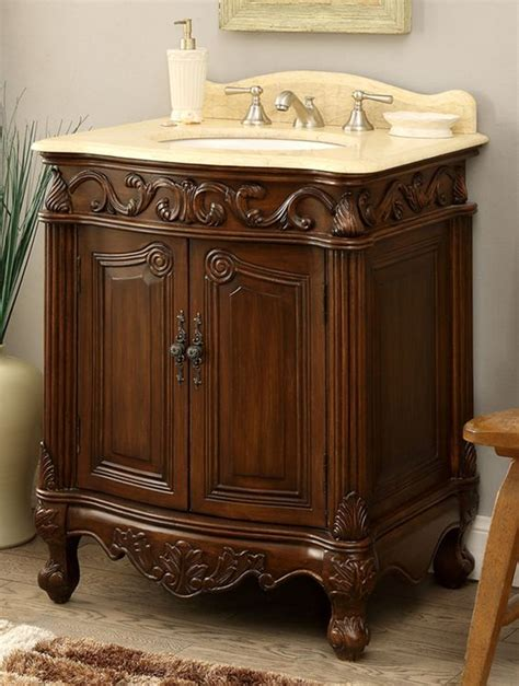 this beautiful adelina 27 inch antique bathroom vanity
