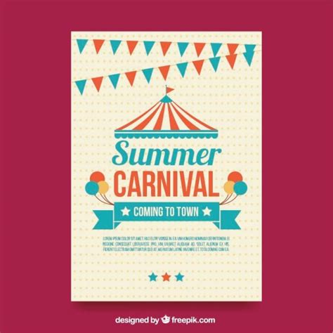 carnival poster template summer carnival poster vector free