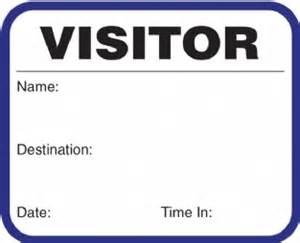 visitor pass template visitor pass on a roll