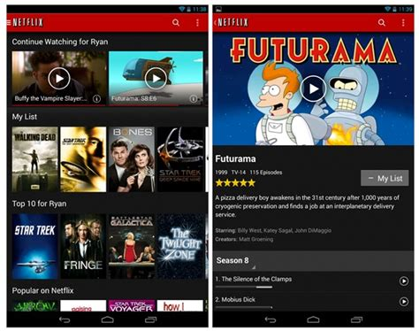 netflix app for android netflix android app update with enhanced chromecast support
