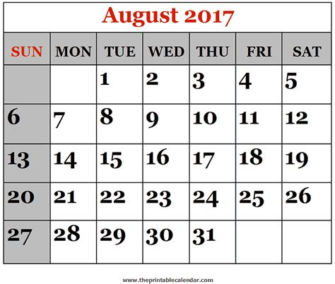 Calendar 2017 August And September Printable July August September 2017 Three Months Printable Calendar