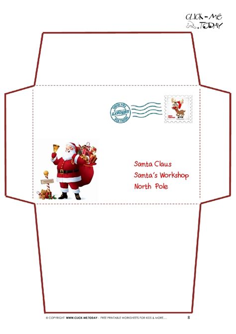 printable christmas cards envelopes envelope from santa template invitation template