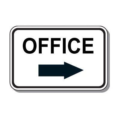 Desk Signs For Office Directional Parking Signs Office Right Arrow Sign Seton