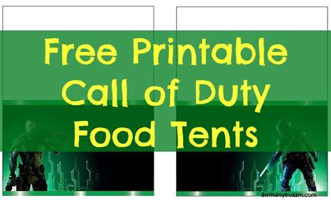 call of the food free printable call of duty food tents birthday buzzin