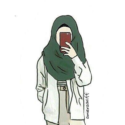 gambar kartun muslimah hipster galeri foto  wallpaper
