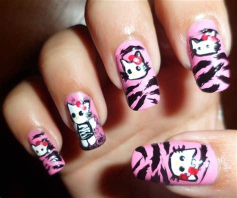zebra pattern nail design tattoos for girls cute nice zebra nail design