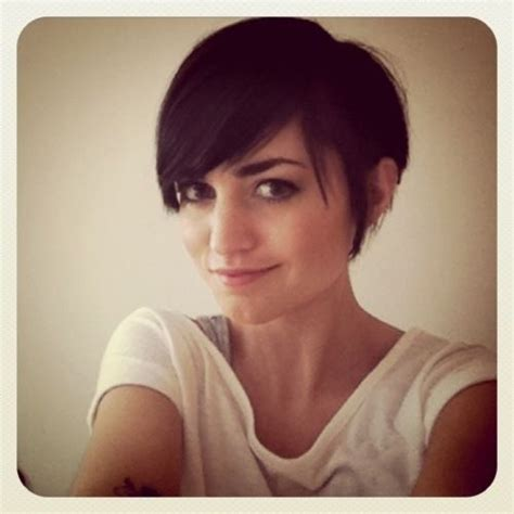pixie cut with long fringe short hair pinterest long pixie cut with long bangs short hair pinterest
