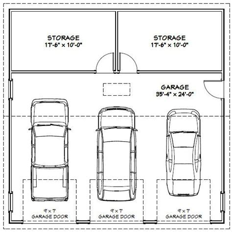 3 Car Garage Size Garage Dimensions Google Search House Fix Ups