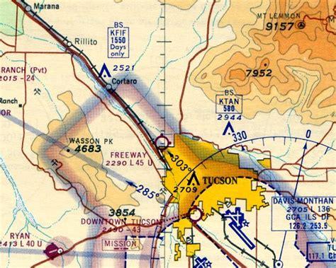 Arizona Sectional Chart by Abandoned Known Airfields Arizona Southeastern