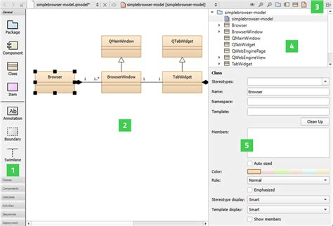 qt design editor modeling qt creator manual